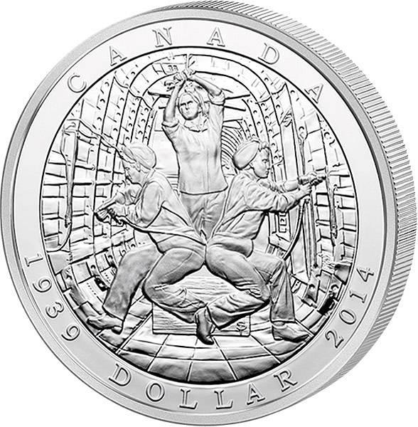 1 Dollar Kanada 75 Jahre Beginn des 2. Weltkriegs 2014