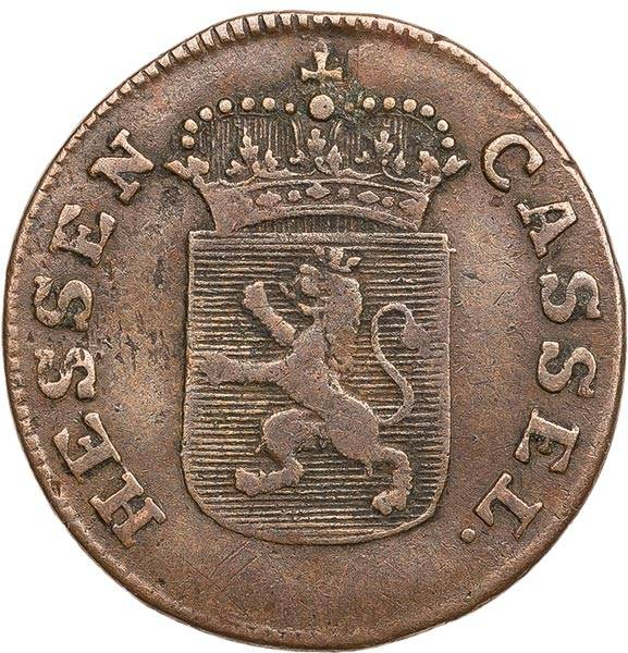 1/2 Kreuzer Hessen-Kassel Landgraf Wilhelm IX. 1801-1803