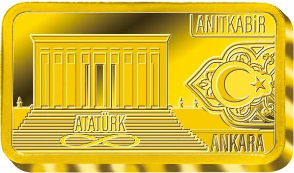 0,5 Gramm Goldbarren Ankara Atatürk Mausoleum 2019