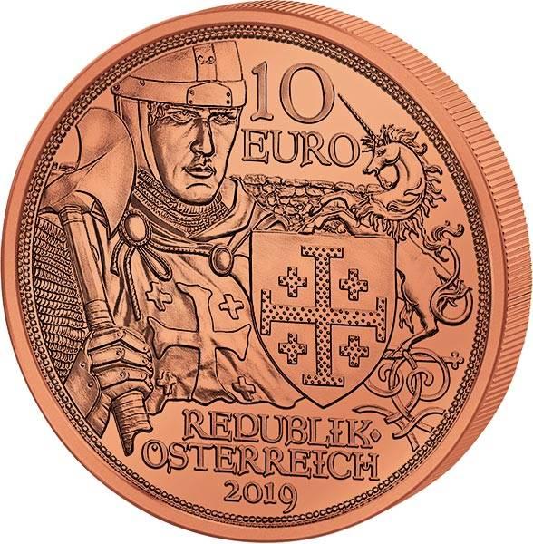 10 Euro Österreich Mit Kettenhemd und Schwert Abenteuer 2019