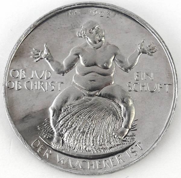 Alu-Medaille Notzeit Inflation 1923