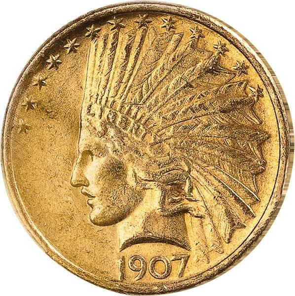 10 Dollars USA Indian Head 1907