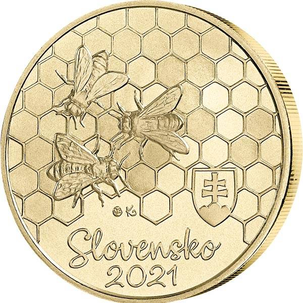 5 Euro Slowakei Honigbiene 2021