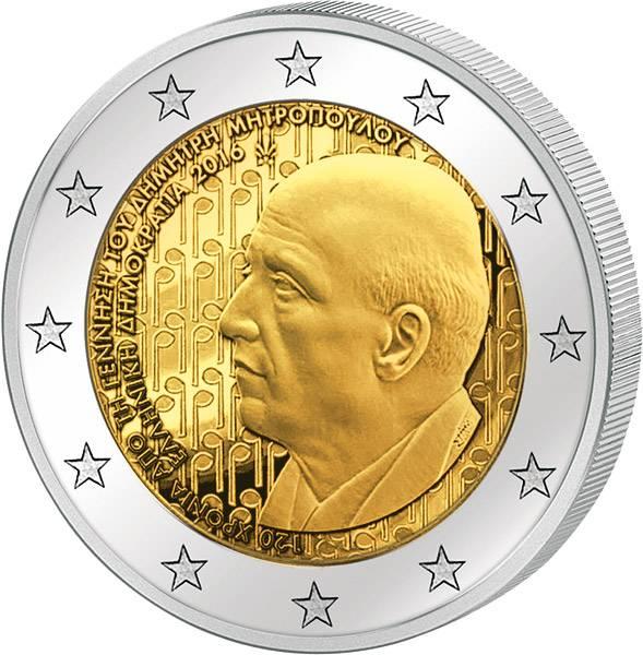 2 Euro Griechenland 120. Geburtstag von Dimitri Mitropoulos