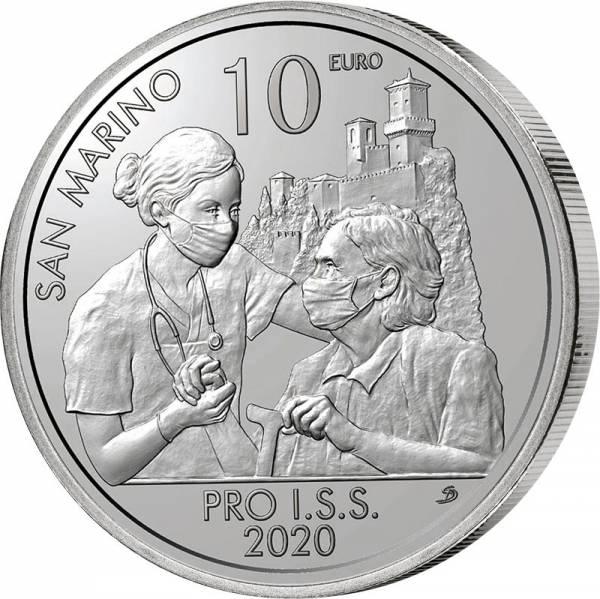 10 Euro San Marino Institut für soziale Sicherheit 2020
