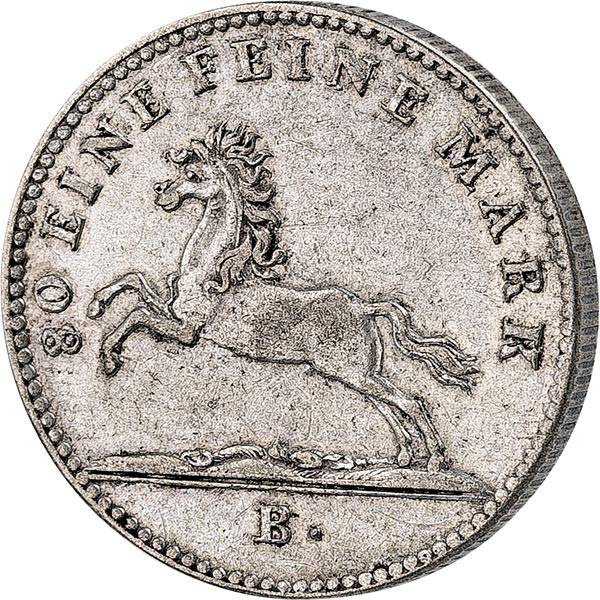 1/6 Taler Hannover König Georg IV. 1821