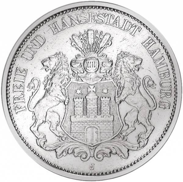 2 Mark Hamburg Wappen großer Adler 1892-1914 Sehr schön