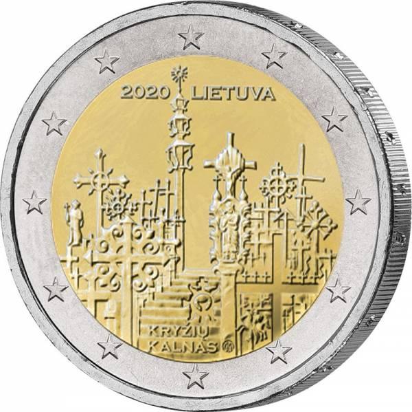 2 Euro Litauen Berg der Kreuze 2020