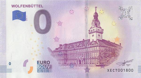 0-Euro-Banknote Schloss Wolfenbüttel 2018