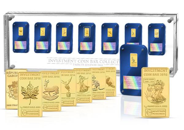 Investment Coin Bar Collection 2016