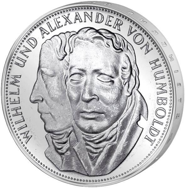 5 DM Münze BRD Wilhelm und Alexander von Humboldt