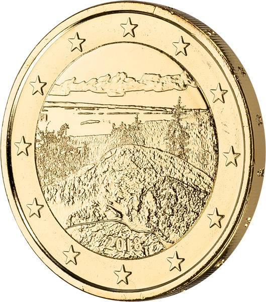 2 Euro Finnland Koli Nationalpark 2018 vollvergoldet