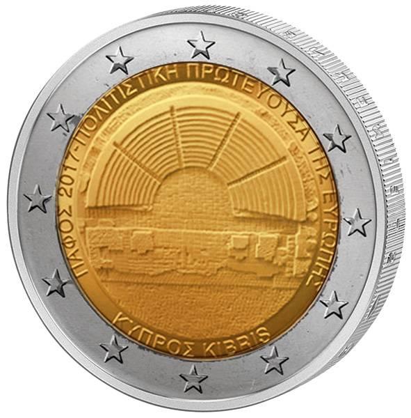 2 Euro Zypern Kulturhauptstadt Paphos 2017