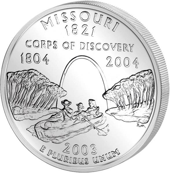 Quarter Dollar USA Missouri 2003