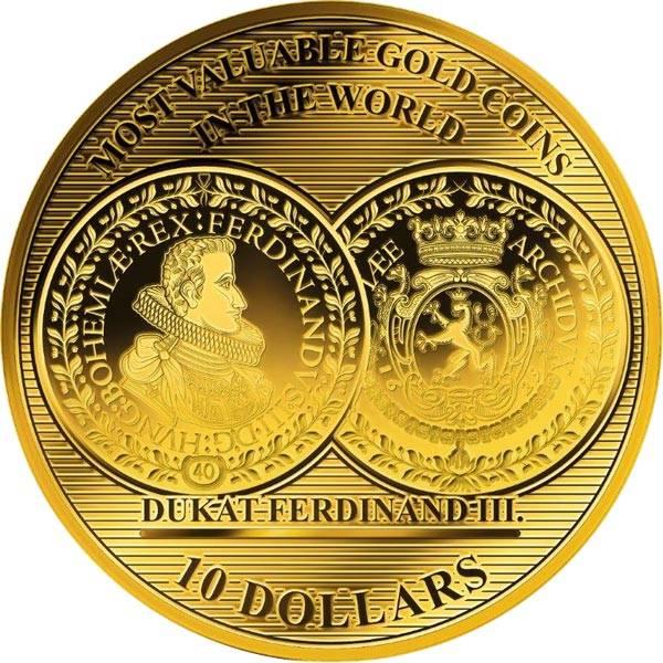 10 Dollars Salomonen Böhmen Dukat Ferdinand III. 2018