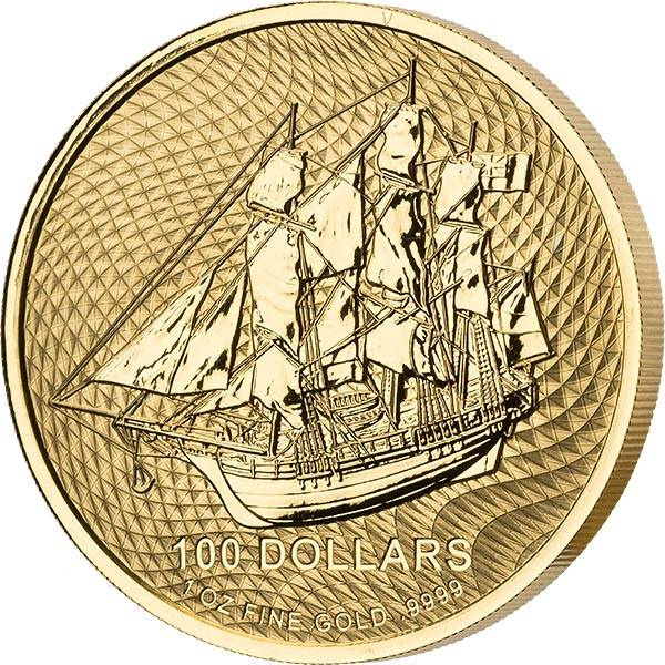 1 Unze Gold Cook-Inseln Bounty 2021