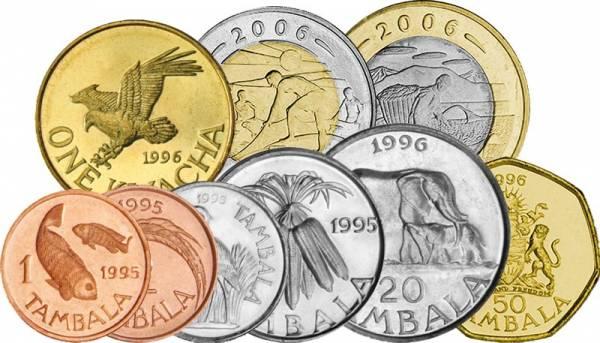 1 Tambala - 10 Kwacha Kursmünzensatz Malawi 1995-2006