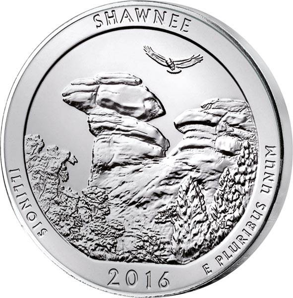 25 Cents USA Illinois Shawnee National Forest 2016