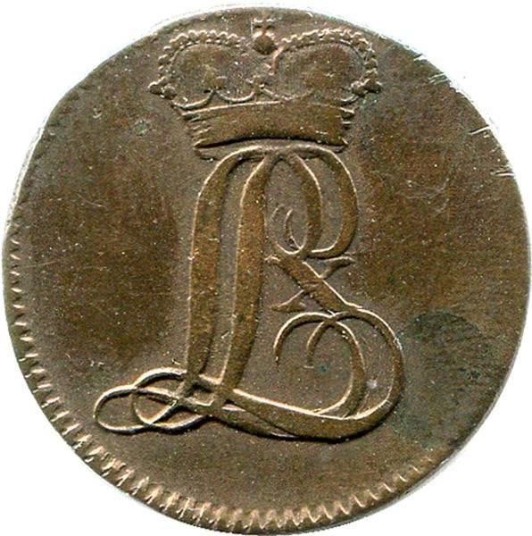 1/4 Stüber Landgraf Ludwig X. Hessen-Darmstadt 1805 sehr schön