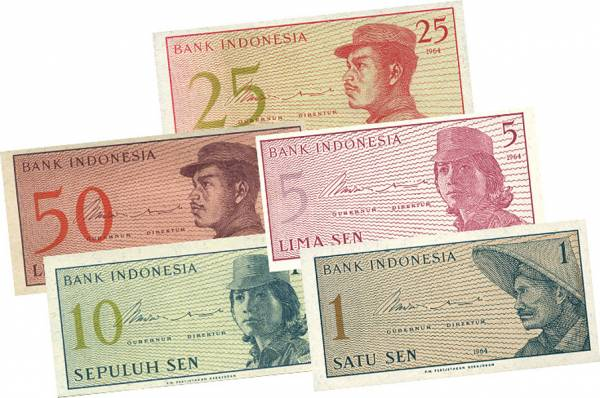 25 - 1000 Rupiah Indonesien