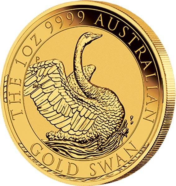 1 Unze Gold Australien Schwan 2018