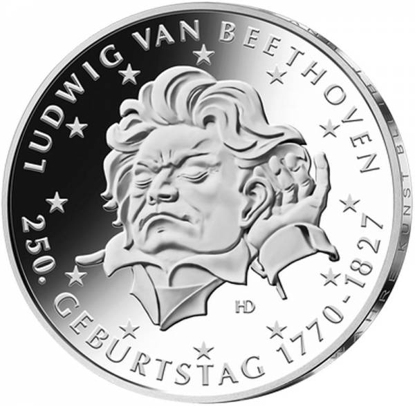 20 Euro BRD 250. Geburtstag Ludwig van Beethoven 2020