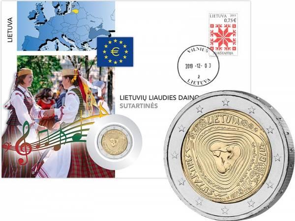 2 Euro Numisbrief Litauen Litauische Volkslieder - Sutartines 2019