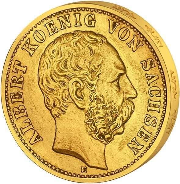 20 Mark Sachsen Albert 1894-1895 Sehr schön