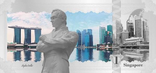 1 Dollar Cook-Inseln Skyline-Dollar Singapore 2017
