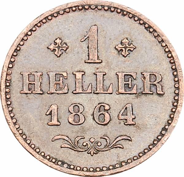 1 Heller Freie Reichsstadt Frankfurt 1859-1865