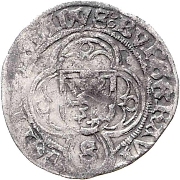 Halbschilling o.J. Markgraf Friedrich der Ältere 1495-1515 Brandenburg-Franken, s - ss