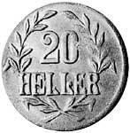 20 Heller Deutsch Ostafrika Deutsche Kaiserkrone (Tabora) 1916 T Sehr schön