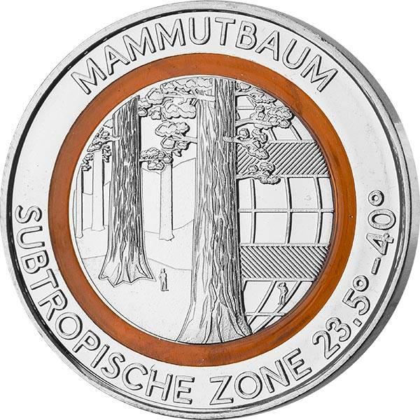 Gedenkprägung Subtropische Zone Mammutbaum