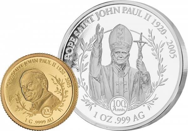 5 + 10 Dollars Salomonen 100. Geburtstag von Papst Johannes Paul II. 2020