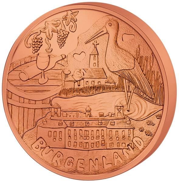10 Euro Kupfer Österreich Burgenland 2015 pfr.