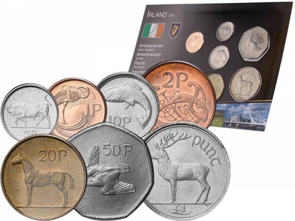 Kursmünzensatz Irland 1970-2000