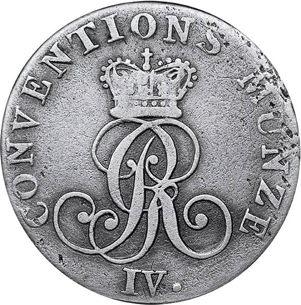 1/24 Taler Hannover König Georg IV.