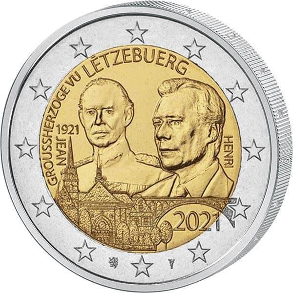 2 Euro Luxemburg 100. Geburtstag des Großherzogs Jean 2021