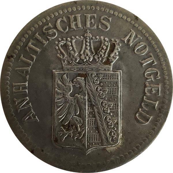 25 Pfennig Herzogtum Anhalt Wappen mit Krone