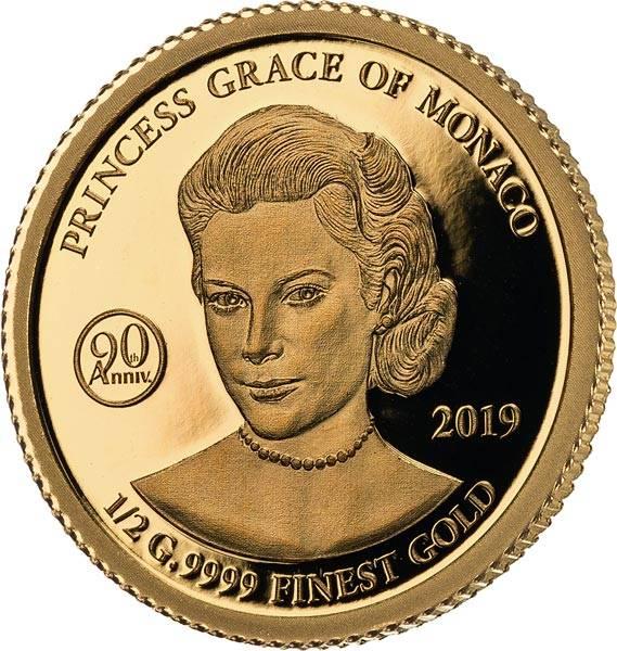 1.000 Francs Gabun 90. Geburtstag von Grace Kelly 2019
