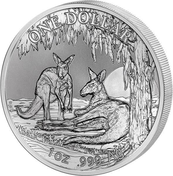 1 Unze Silber Australien Känguru 2018
