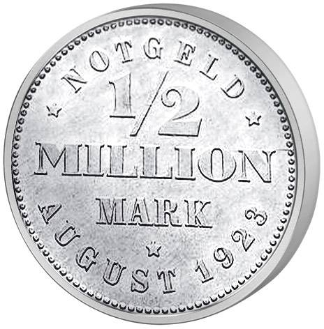 1/2 Millionen Mark Löwenwappen 1923