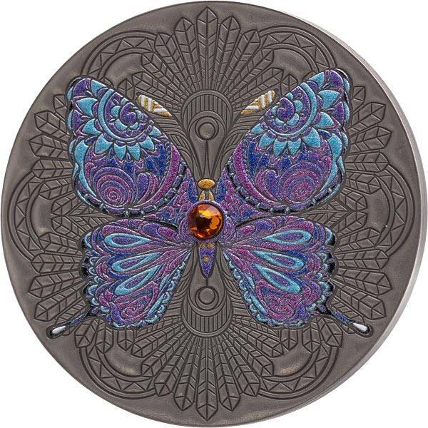 2 Cent Ghana Schmetterling 2020