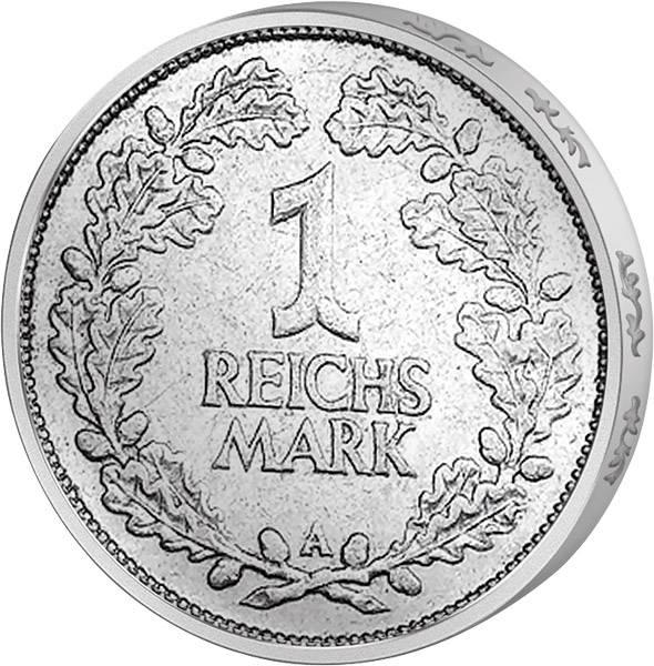 1 Mark Weimarer Republik Eichenlaub 1925-1927 Sehr schön
