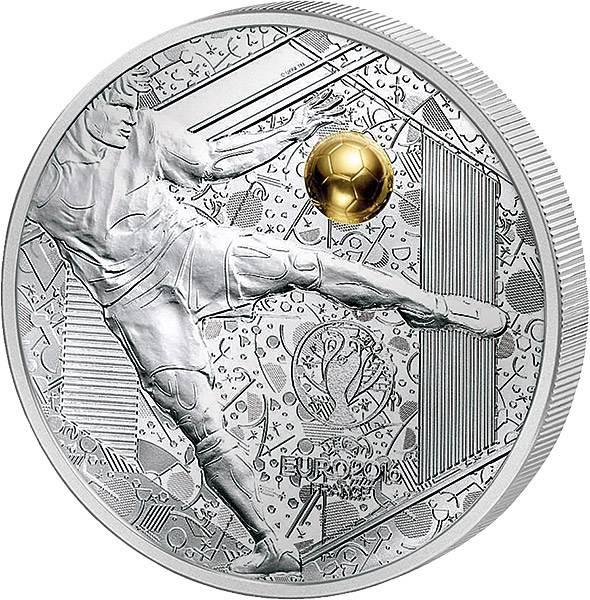 10 Euro Frankreich UEFA-Euro 2016 Volleyschuss