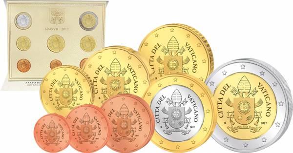 Euro-Kursmünzensatz Vatikan 2017 - FOTOMUSTER