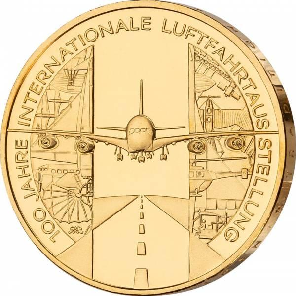 10 Euro  Bundesrepublik Deutschland Luftfahrtaustellung 2009 vollvergoldet
