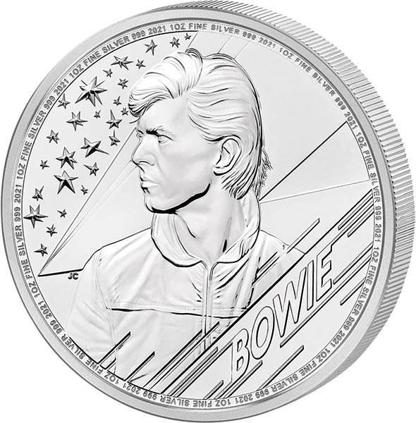 1 Unze Silber Großbritannien David Bowie 2021
