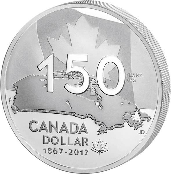 1 Dollar Kanada Heimat und Vaterland 2017