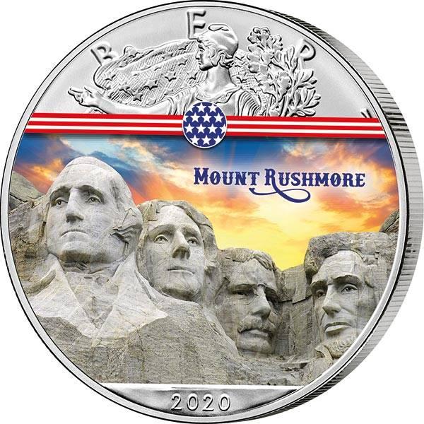 1 Dollar USA Mount Rushmore 2020